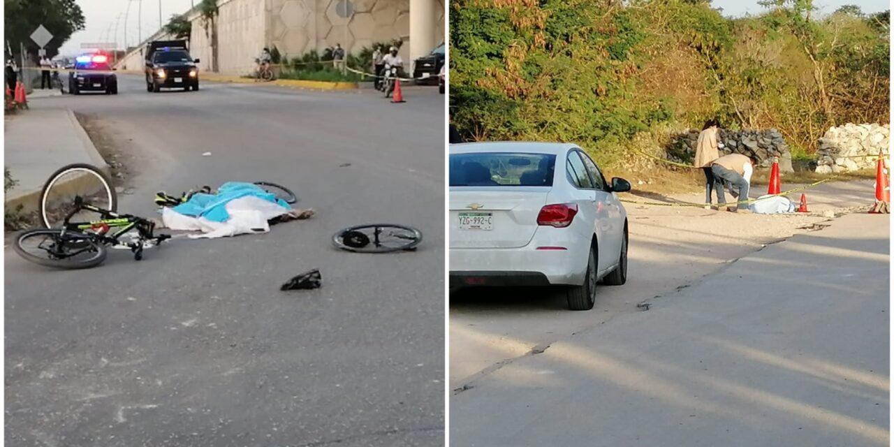 Atropellan a ciclistas y muere uno en periférico oriente de Mérida (Video)