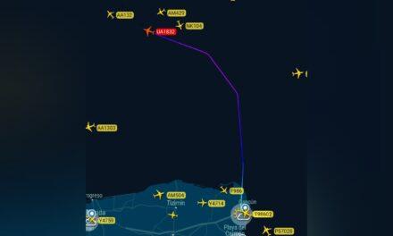 Avión Cancún-Houston perdió motor en Golfo de México y aterrizó de emergencia