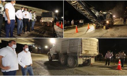 A repavimentación 10 kilómetros 'críticos' del Periférico de Mérida