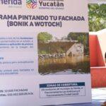 """""""Pintando tu fachada"""", en 29 comisarías y dos fraccionamientos de Mérida"""