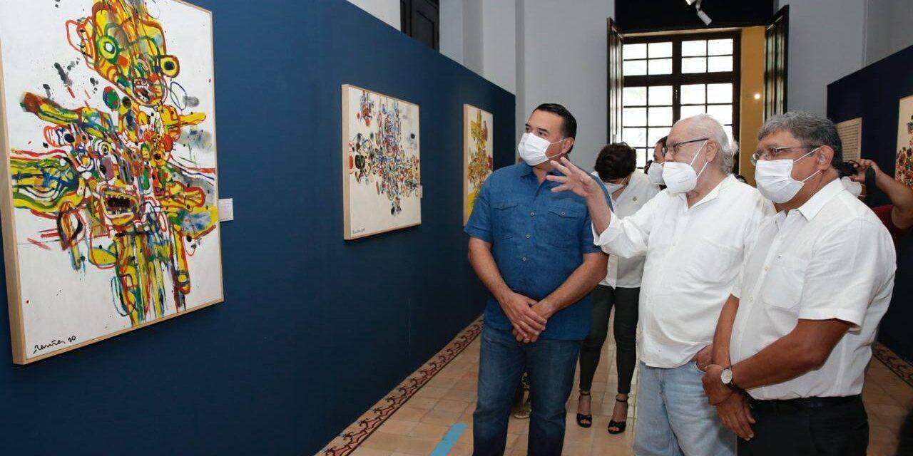 """""""9 del 2020"""" del pintor Gabriel Ramírez Aznar, en Galería de Arte Museo de la Ciudad"""