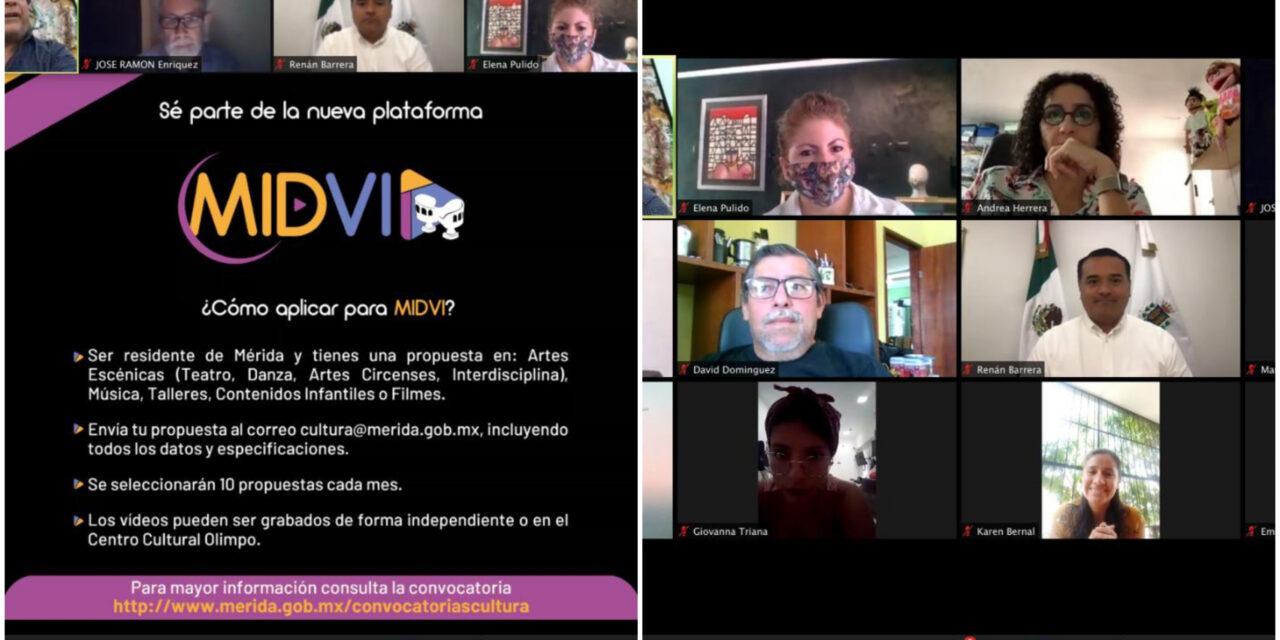 Plataforma MIDVI, contenido digital de comunidad artística en Mérida
