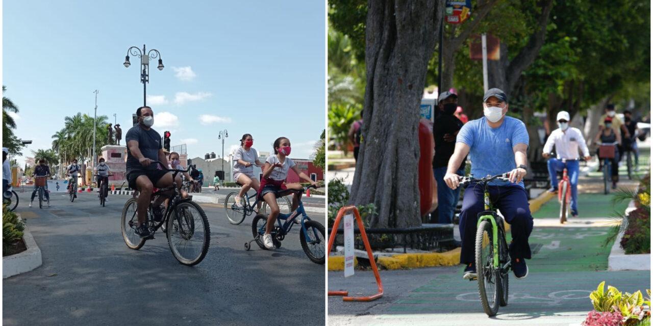 Concurrido regreso de Biciruta en Paseo de Montejo; reapertura gradual