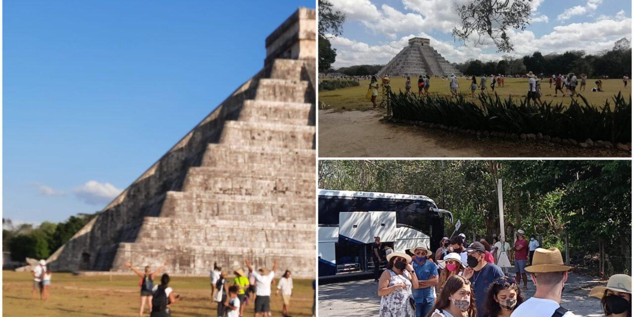 Turismo extranjero sorprende en Chichén Itzá en martes de reapertura