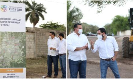 A construcción 14.2 kilómetros de calles en Mérida