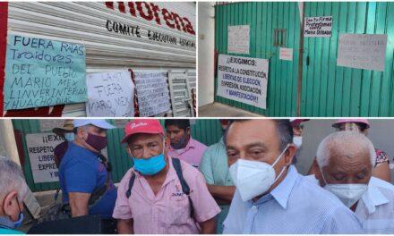Enfrentados y molestos por candidaturas en Morena Yucatán; protesta