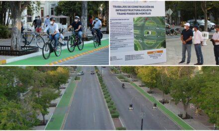 Con 'pedaleada' entregan Vila y Renán ciclovía en Paseo de Montejo