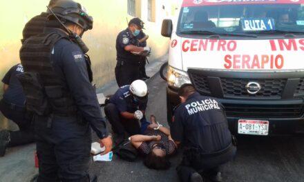 Salvó de morir aplastada por colectivo urbano en centro de Mérida