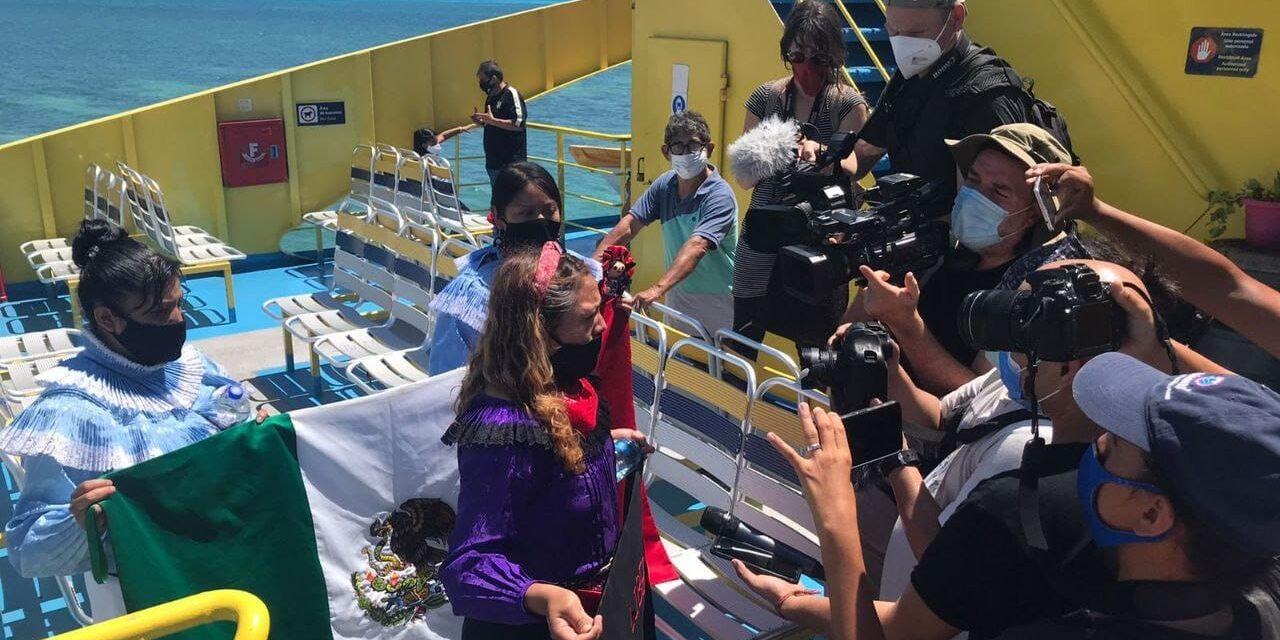 Delegación zapatista en el Caribe Mexicano, en ruta hacia Europa
