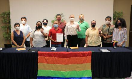 Verónica Camino hace suya agenda del colectivo LGBTTTIQ+ de Yucatán