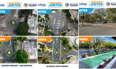 Nuevo diseño vial en glorietas de Paseo de Montejo
