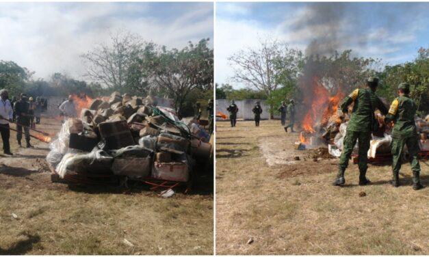 Terminan incinerados diversos narcóticos asegurados en Yucatán