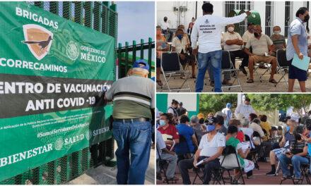 Alcanza 7 por ciento primer día de vacunación antiCovid en Mérida