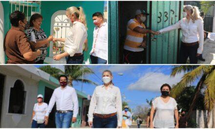 'Confíen en nosotros', pide Verónica Camino Farjat, en campaña por Mérida