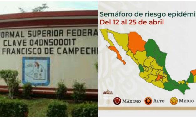Repite Campeche en semáforo verde y alista clases limitadas el lunes