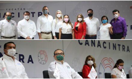 Nueve candidatos por Mérida en diálogo con industriales yucatecos