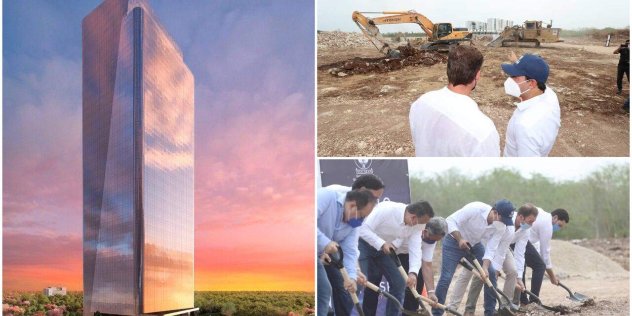 """En construcción 'primer rascacielos del sureste"""" de México"""