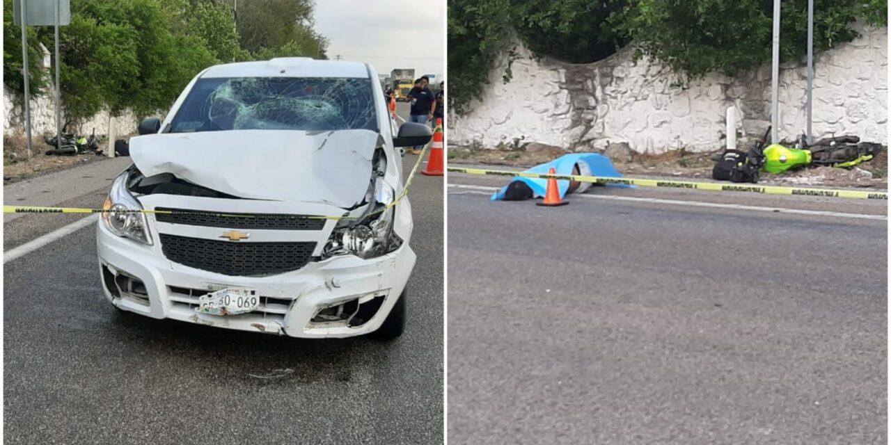 Maniobra mortal: atropellado motociclista en la Mérida-Campeche