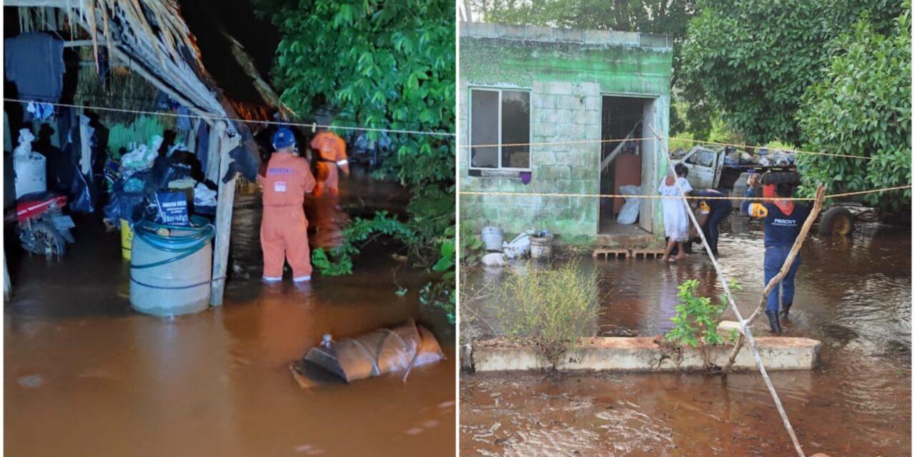 Lluvias inundan a familias en comisaría de Tekax, al sur de Yucatán