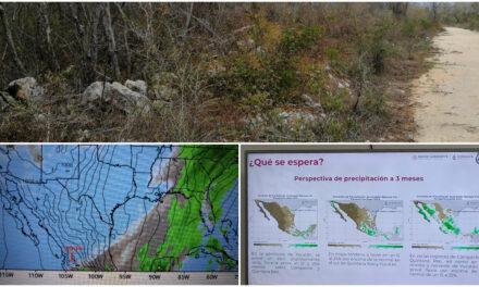 Fase previa de sequía en Yucatán debilitada por lluvias de frente frío