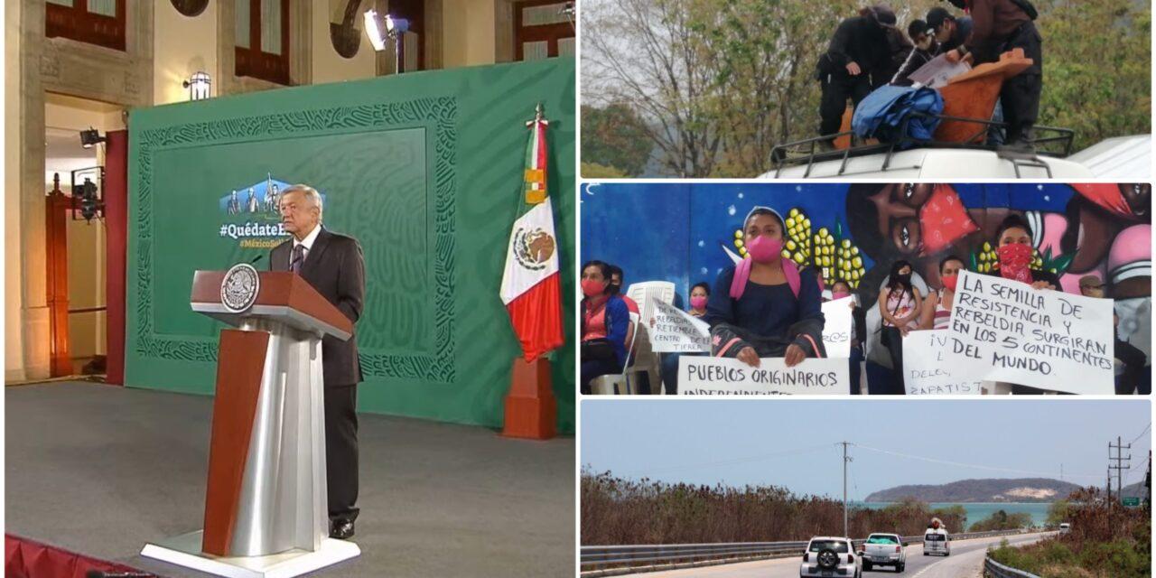 AMLO y 'Delegación Marítima Zapatista' coincidirán en Quintana Roo
