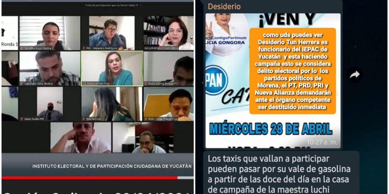 Taxista funcionario electoral en Tinum es acusado de proselitismo