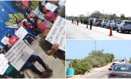Camino a Isla Mujeres caravana zapatista con destino a Europa