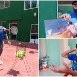 Don Gualberto, campesino que se volvió maestro y entrenador del tenis