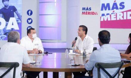 Diálogo de Renán con empresarios: 'Vamos por la reactivación económica de Mérida'