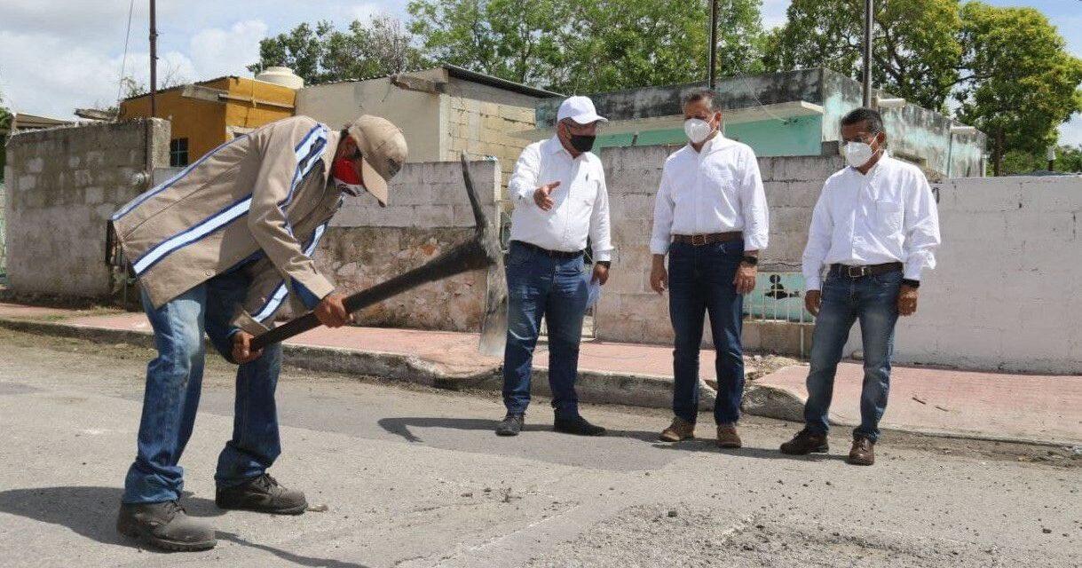 Refuerzan labores de bacheo y mejoramiento de calles en Mérida ante temporada de lluvias