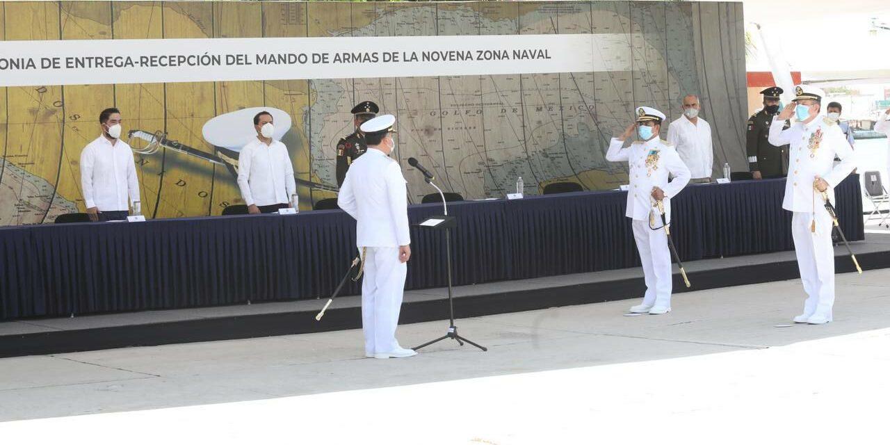 Vicealmirante Adrián Hermilo Valle González asume mando en IX Zona Naval