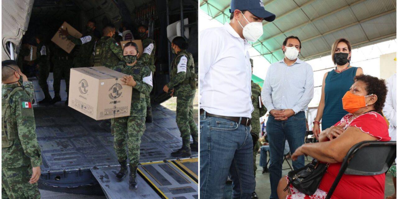 Llegan vacunas a Yucatán para personas de 50 a 59 años; Vila en Izamal