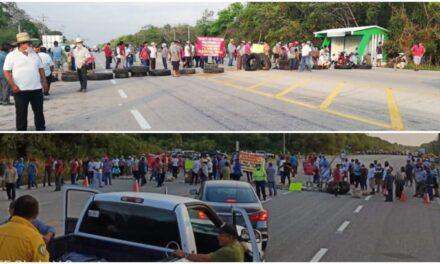 Descendientes originarios reciben a AMLO con bloqueo en Zona Maya