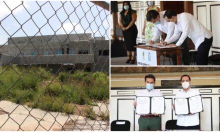 Recibe IMSS terrenos y obra negra de Hospital Ticul, en vías de rescate