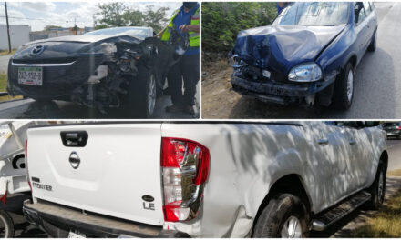 Siete autos golpeados en 1 kilómetro del periférico de Mérida