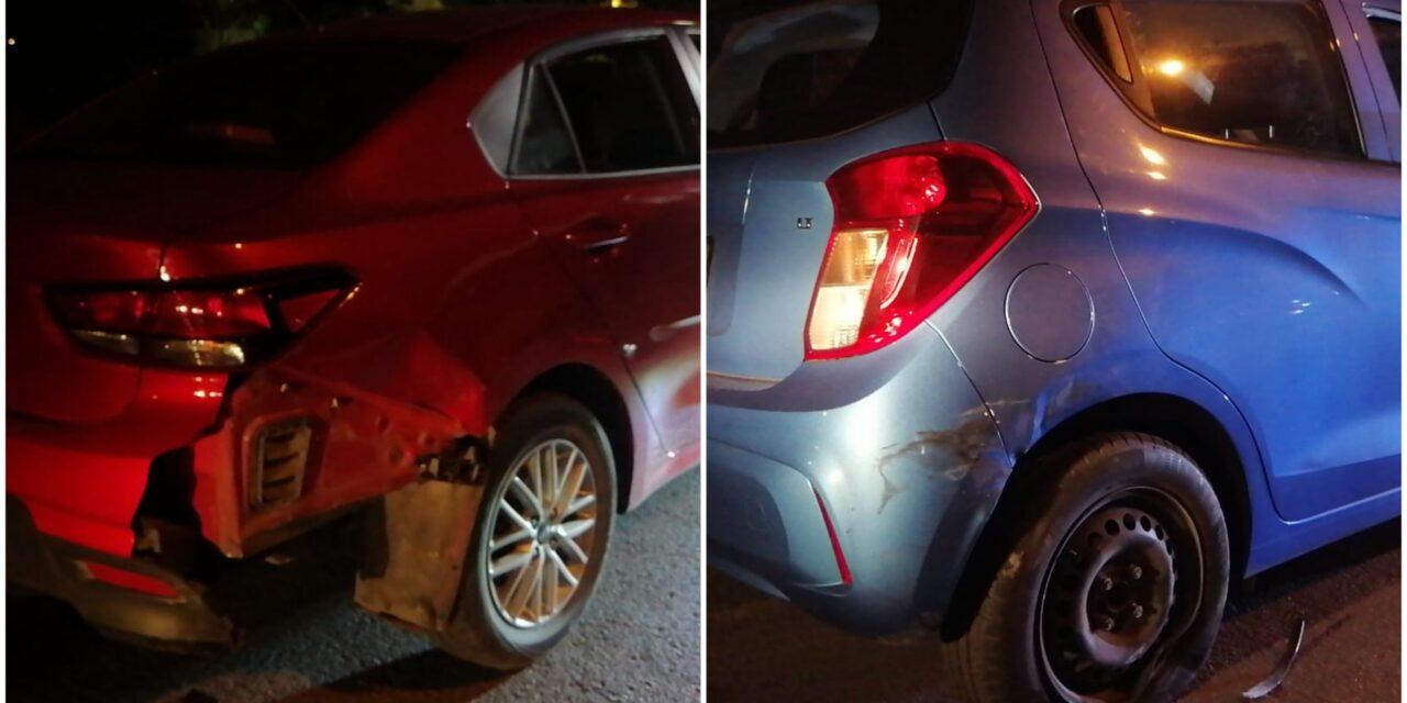 Costosa borrachera: más de 70 mil pesos en daños por choque de autos