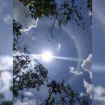 Sorprende aparición de halo solar en noreste de la península de Yucatán