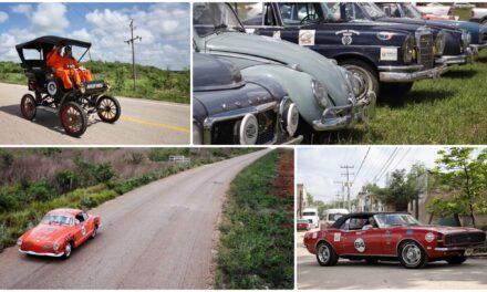 Ruedan modelos antiguos del Rally Maya; primera etapa en Campeche (Galería)