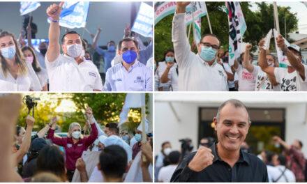 En debate presencial, nueve candidatos contrastan proyectos por Mérida