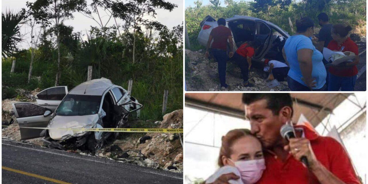"""Luto en Bacalar por accidente de """"Chepe"""" Contreras; muere su esposa"""