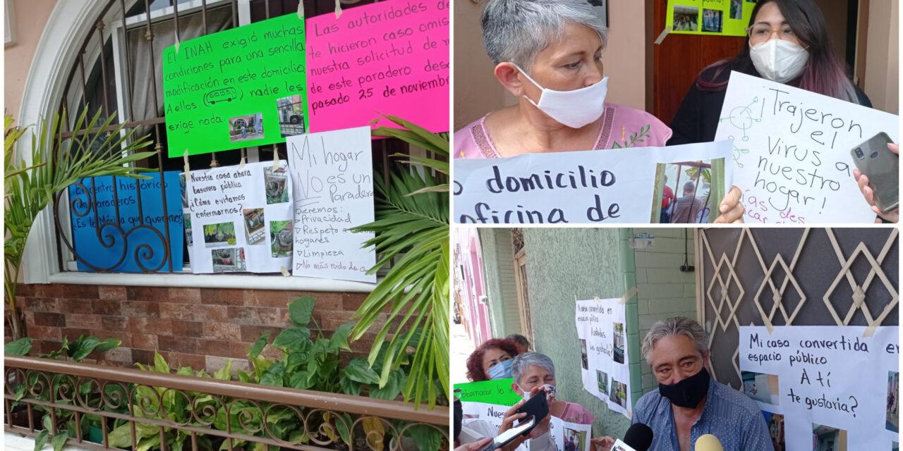 Dueños de predios en Santa Lucía no quieren paraderos frente a domicilios