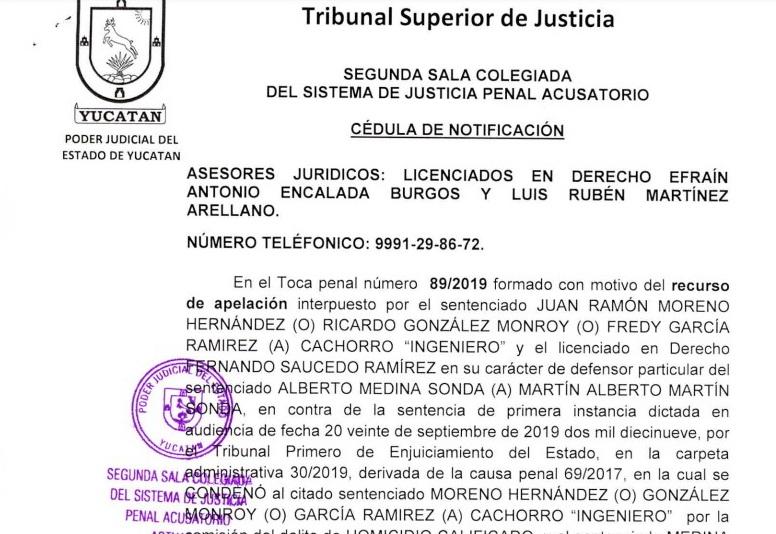 Confirman 50 años de cárcel a Martín Alberto Medina Sonda por feminicidio de Emma Gabriela