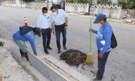Mejoran infraestructura urbana en comisarías de Mérida por temporada de lluvias