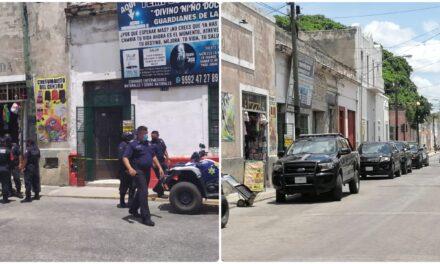Asesinan a hombre en interior de un negocio en el centro de Mérida