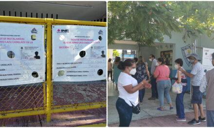 Retrasos en apertura de casillas marcaron inicio de comicios en Yucatán