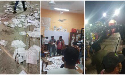 Queman boletas electorales en Yaxkukul por inconformidad con resultados (Vídeo)