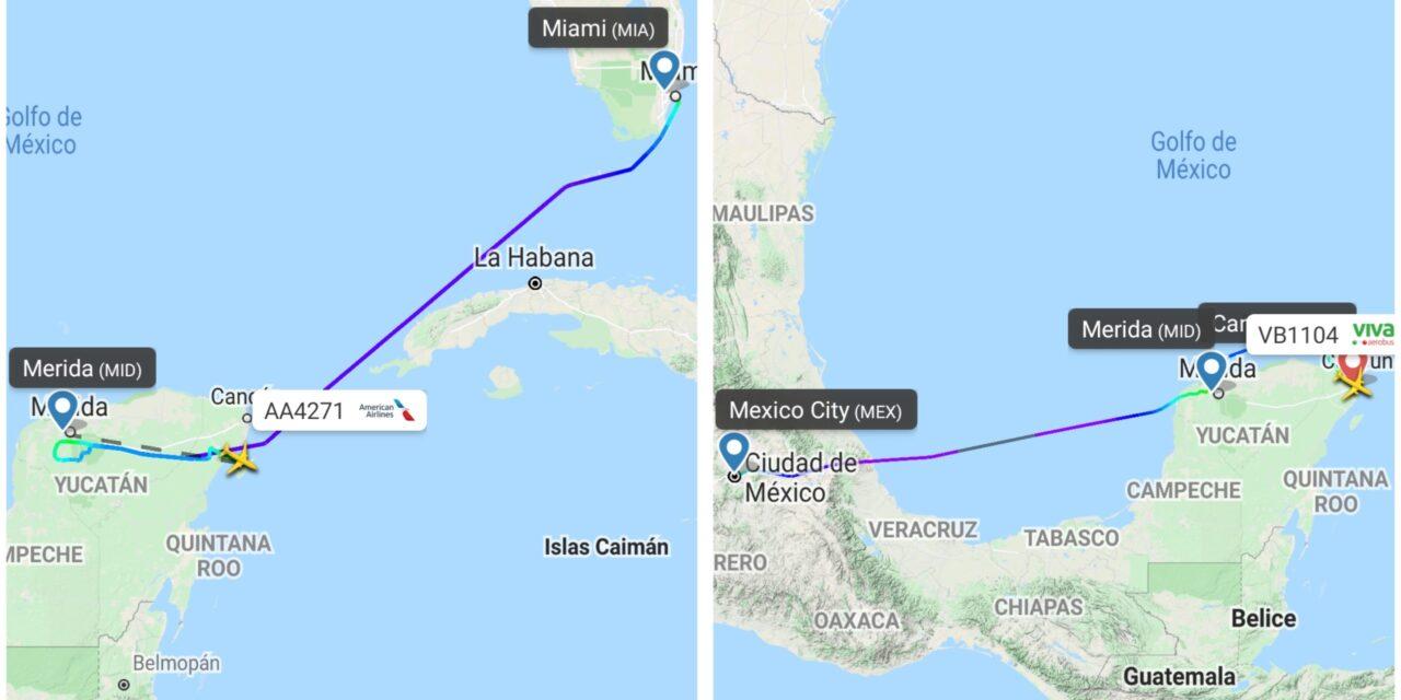 Lluvia y descargas eléctricas desvían dos vuelos hacia Cancún y Cozumel