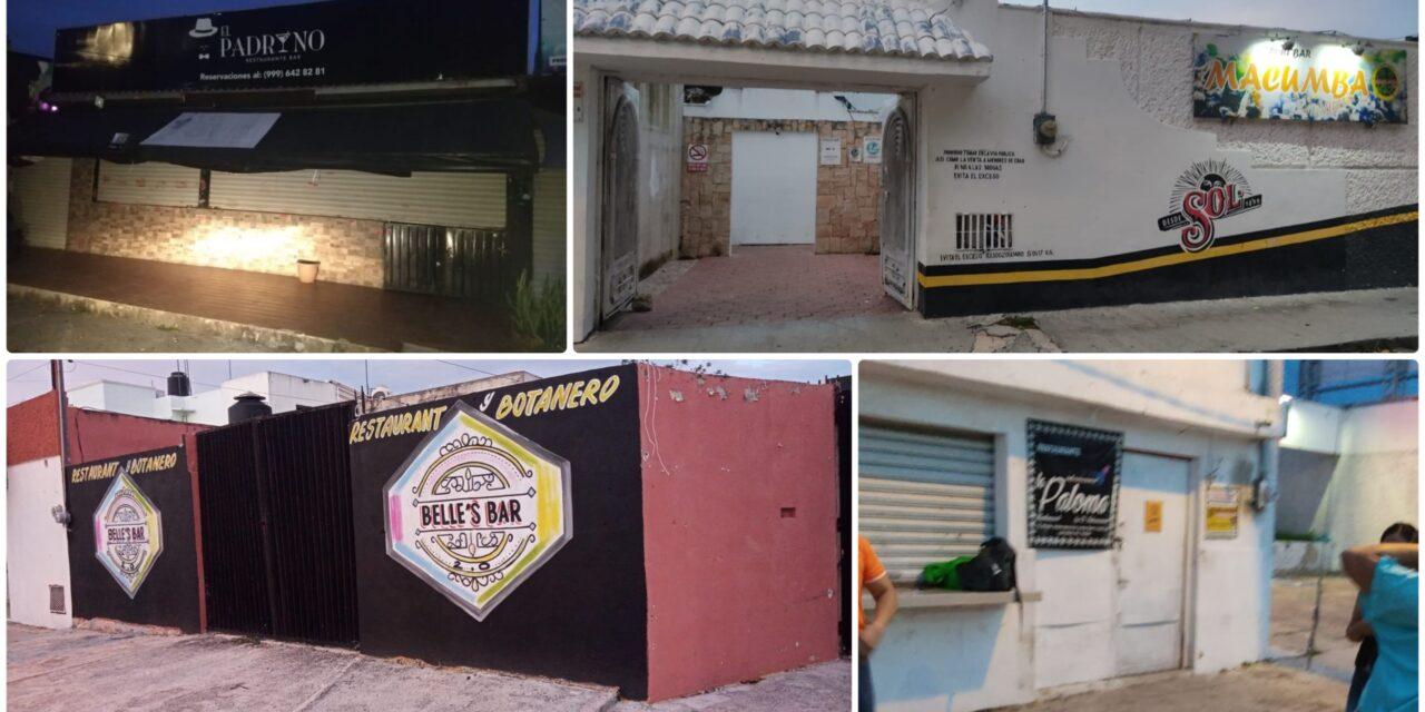 Restaurantes, bares y centros nocturnos en Mérida acatan medidas sanitarias