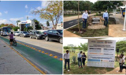 Seguirán ciclovías y cambios en movilidad en Mérida.- Vila Dosal