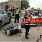 Chica lesionada en la Emilio Portes Gil: venezolanas atropellan motocicleta